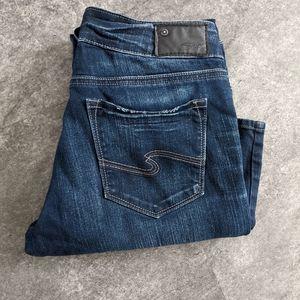 Silver Suki dark wash baby bootcut jeans